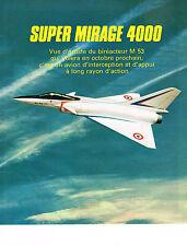PUBLICITE ADVERTISING 054  1978  SUPER MIRAGE 4000