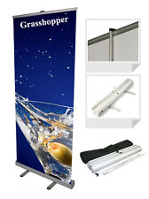 NEXT DAY ROLLER BANNER EXHIBITION STAND 850MM WIDE HIGH QUALITY GRAPHICS UV INKS