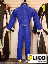 Sparco/Lico  Go Kart Racing Suit FIA  Blue 2 Layer  Size X Large [In the USA]