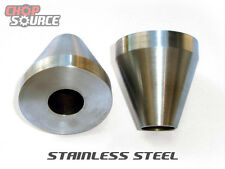 """Motorcycle Frame Jig Neck Cones - Stainless Steel - 2"""" O.D. - Chopper - Harley"""