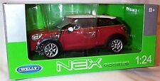 Mini Cooper Paceman Red White Roof 1-24 scale diecast model new in box