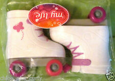 "American My Life Clothes Roller Skates Shoes 18"" Doll Girl White Pink Purple NEW"