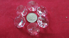 36 PCS 18 MM AAA 2 HOLE OCTAGON CRYSTAL GLASS BEAD JEWELRY CHANDELIER CHAIN PART