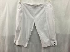 TS Taking Shape fits Plus Size 22 24 White Stretchy Short Cashual Pants Shorts