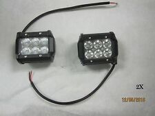 "2 New 3.5"" Cree White 6 LED 18w Flood Beam Off Road Roof Driving Work Light bar"