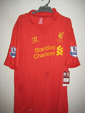 LIVERPOOL - LUIS SUREZ HAND SIGNED JERSEY UNFRAMED + PHOTO PROOF &  C.O.A