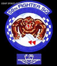 USAF 58th FIGHTER SQUADRON + F-35 POCKET TAB - Prince Sultan AB - ORIGINAL PATCH