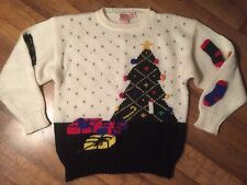 Vintage Christmas Sweater Size Medium Made By Fetagetti Tacky Party Winner