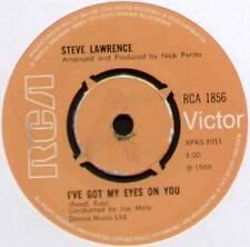 """STEVE LAWRENCE~I'VE GOT MY EYES ON YOU / PICKIN' UP THE PIECES~1969 UK 7"""" SINGLE"""