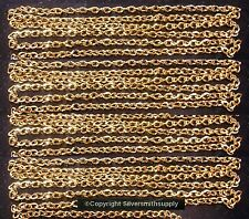 12' Gold plated flat oval twist 6x4mm bulk large cable link necklace chain ch118