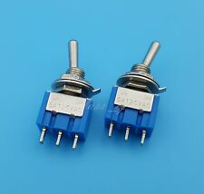 5Pcs MTS-102 Blue 3 Pin 2 Position ON-ON Mini Toggle Switch 6A 125VAC