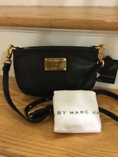 NWT Marc by Marc Jacobs Classic Q Percy Crossbody Clutch Purse Bag Black Gold