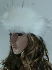 Posh Luxury Top Quality Faux Fox Fur Hat Headband guess gift for Valentines Day