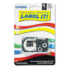Casio Label Printer Iron-On Transfer Tape, 18mm, Black on White - CSOXR118BKS