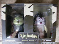 DISNEY SPOOKY SERIES 1 VINYLMATION FRANKENSTEIN & BRIDE/MICKEY MOUSE NIB