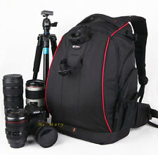 Photographer Digital SLR Camera Bag Backpack Black for Canon Nikon Sony Laica