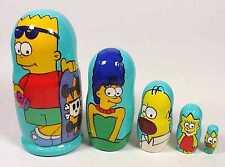 Los Simpsons Ruso Nesting Doll Matryoshka 5 piece Set Regalo Souvenir Juguete * Nueva