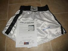 MUHAMMAD ALI VINTAGE AUTOGRAPHED SIGNED BOXING TRUNKS W/ PSA  AUTHENTICATION