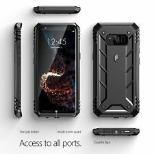 Black  For Galaxy S8 Poetic Revolution Rugged Case Heavy Duty Protection