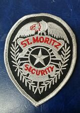 ST. MORITZ SECURITY SERVICES INC SPECIAL POLICE BADGE JACKET PATCH