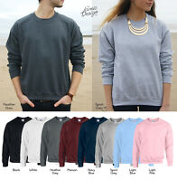Unisex Pack Of 3 Gildan Plain Heavy Blend Sweatshirts Sweaters Jumper Multi Mens