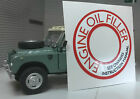 Land Rover Series 2a 3 Engine Oil Filler Breather Cap Label Decal