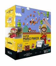 Nintendo Wii U Premium Pack 32gb Super Mario Maker ARTBOOK amiibo pacchetto accessori