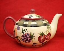 Oneida STRAWBERRY PLAID Teapot with Lid Hand Painted