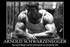 Arnold Schwarzenegger Bodybuilding Motivational Poster 12X18'' Gym Decoration 10