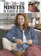 10  20  30 Minutes to Learn to Knit (Leisure Arts #3231), Leisure Arts, New Book