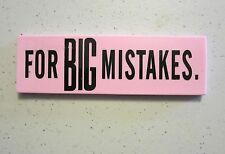 ONE NEW LARGE ERASER FOR GREAT BIG MISTAKES NOVELTY GAG GIFT SCHOOL PARTY FAVORS
