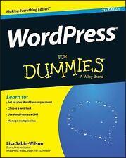 Wordpress for Dummies® by Lisa Sabin-Wilson (2015, Paperback)