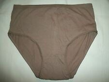 LADIES BRIEF PANTY  SIZE 9 / XXL 10 /3XL BY SKINFULLY SWEET BROWN COLOR   NWOT