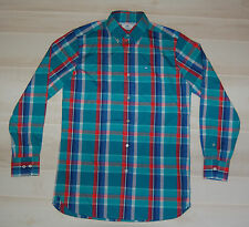 SOUTHERN TIDE Men Button Front L/S Shirt Green-Blue-Red-Plaid-Classic Fit-Small