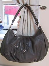 Medium Size WALLACE SACKS LONDON Green Real Leather Slouch Scoop Shoulder Bag