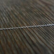 3.3ft 925 Sterling Silver 1.5mm Unfinished Bulk Cable Chain DIY Jewelry supply