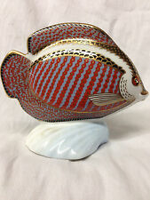 ROYAL CROWN DERBY IMARI PAPERWEIGHTS COLLECTION GOURAMI TROPICAL FISH IN BOX