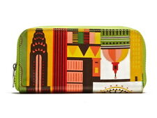 NWT KITSCH'N GLAM JET-SET WALLET-CLUTCH Multi Color COATED FABRIC - $40