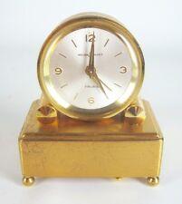 Reuge Music Metall Uhr / Spieluhr 7 Rubis Switzerland Suisse Made Music Clock