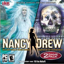 NANCY DREW The Haunting of Castle Malloy AND Legend of the Crystal Skull   NEW