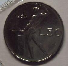 ITALIA REPUBBLICA 1968-2001 SERIE COMPLETA 50 LIRE DA DIVISIONALE ZECCA FDC