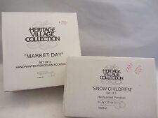 Dept 56 MARKET DAY & SNOW CHILDREN (partial) New England Series -   (h1:15)