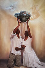 """African American Art """"Give it All to God"""" Black Religious Art Kevin Williams WAK"""
