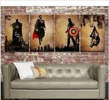 4 Superhero 2015 OIL PAINTING MODERN ABSTRACT WALL DECOR ART CANVAS (NO FRAME)