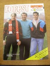 19/03/1988 Nottingham Forest v Manchester United  . Unless previously listed in