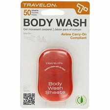 Travelon Body Wash / Soap Travel Hygiene Sheets - 50ct