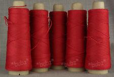 FIVE CONES of 4 PLY JURA WOOL - RUBY RED 500g TEN BALLS KNIT WEAVE CROCHET FELT