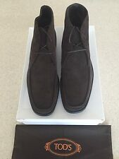 Brand New w Box AUTHENTIC Tod's Brown Quinn Chukka Boots For Men - Size US 11.5