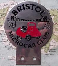 Used Chrome Car Mascot Badge : Bristol Microcar Club Bubble Car