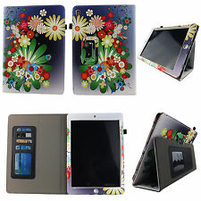 """MULTI FLOWER FOLIO CASE KINDLE FIRE HD 8.9"""" SLIM FIT POCKET STAND TABLET COVER"""